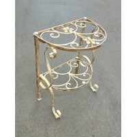 Bedside Table Wrought Iron.  Personalised Executions . 1251