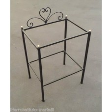 Bedside Table Wrought Iron. Personalised Executions. 871