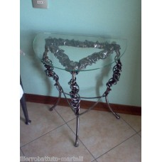 Bedside Table Wrought Iron. Personalised Executions. 874