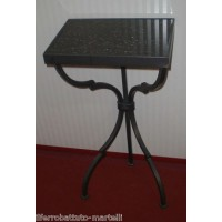 Bedside Table Wrought Iron. Personalised Executions. 878