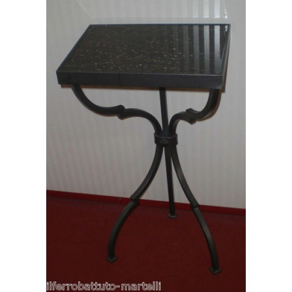 Bedside Table Wrought Iron. Iron color . 878