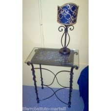 Bedside Table Wrought Iron. Personalised Executions. 879