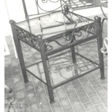 Bedside Table Wrought Iron. Personalised Executions. 881