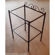Bedside Table Wrought Iron. Personalised Executions. 887