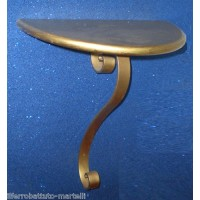 Bedside Table Wrought Iron. color Gold. 893