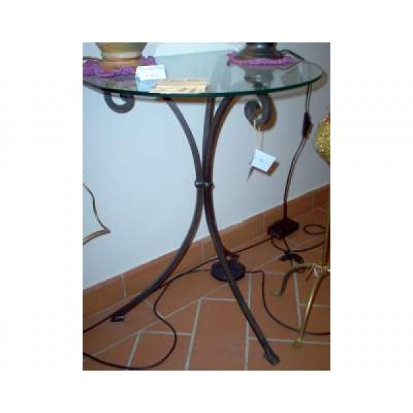 Bedside Table Wrought Iron. Iron color . 949