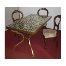 Table Wrought Iron. Cm 80 x 140 approx . 653