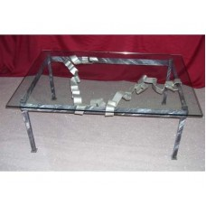 Coffee Table Wrought Iron. Cm 80 x 115. 666
