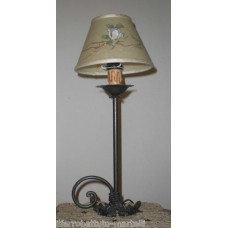 Wrought Iron Abat Jour Lamp. Personalised Executions. 707