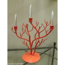 Wrought Iron Candelabra Coral . Personalised Executions. 1005