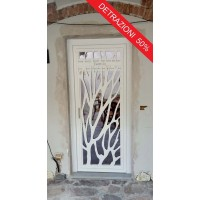 Gate Door in Iron Design with laser cutting . Personalised Executions. 1369