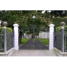 Wrought Iron Driveway Gate. Personalised Executions. 050