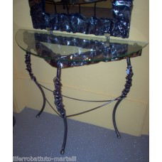 Wrought Iron Consolle Etagere Furniture. Color brushed transparent iron. 311