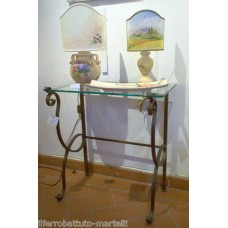 Wrought Iron Consolle Etagere Furniture. Color iron silver . 312