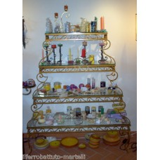 Wrought Iron Consolle Etagere Furniture. Gold color . 321