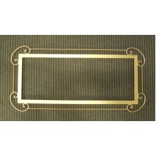 Frame design WROUGHT IRON for mirror or photos without LED. cm 116 x 52. 821