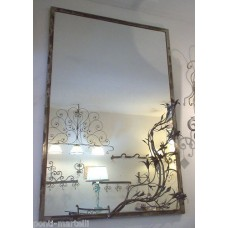 Frame design WROUGHT IRON for mirror or photos without LED. cm 100 x 150 . 826
