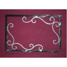 Frame design WROUGHT IRON for mirror or photos without LED. cm 90 x 60 . 829