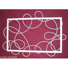 Frame design WROUGHT IRON for mirror or photos without LED. cm 120 x 90 . 834