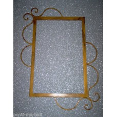Frame design WROUGHT IRON for mirror or photos without LED. cm 86 x 72 . 845