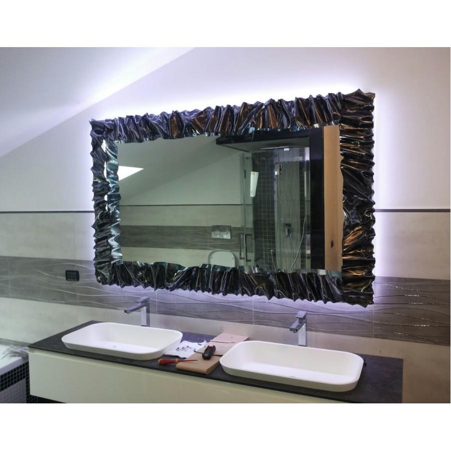 Cornice design ferro battuto per specchio o foto con o senza led realizzazioni personalizzate - Specchio senza cornice ...