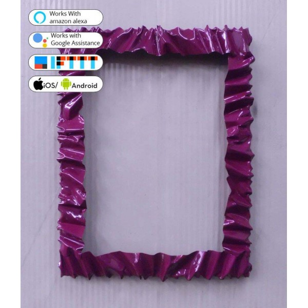 Frame design WROUGHT IRON for mirror or photos with SMART LED lighting on 8 sides internal. cm 86 x 112 . compatible with iOS and Android. works with Amazon Alexa, Google Home, Ifttt. light lamp INTELLIGENT HOME AUTOMATION WIFI. 850