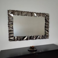 Frame design WROUGHT IRON Stainless steel for mirror or photos with or without LED. Personalised Executions. 850