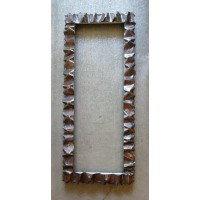Frame design WROUGHT IRON for mirror or photos with Standard or Smart LED lighting on 4 sides internal. cm 120 x 50 . cod. 850