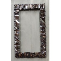 Frame design WROUGHT IRON Stainless steel for mirror or photos without LED. cm 120 x 70 . cod. 850