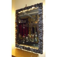 Frame design WROUGHT IRON for mirror or photos with LED on 4 sides. cm 120 x 167 . 850