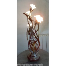 Wrought Iron Table Lamp. Personalised Executions. 497