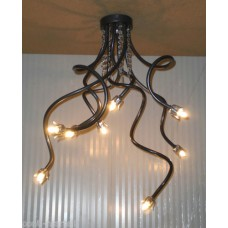 Iron Chandelier with Pearls . Iron color and silver . 8 Lights . 292