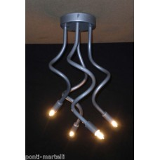 Iron Chandelier . Silver color . 4 Lights . 293