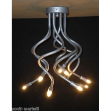 Iron Chandelier . Silver color . 8 Lights . 293