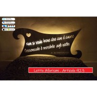 Design bed in iron. Little Prince aphorism. with SMART LED lighting. compatible with iOS and Android. works with Amazon Alexa, Google Home, Ifttt. light lamp INTELLIGENT HOME AUTOMATION WIFI. 923