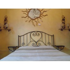 Wrought iron bed. Double . Headboard . Colour Iron. 945