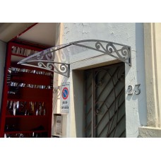 Shelter Canopy Stainless Steel. Wrought Iron Design with laser cutting . Personalised  Executions. 1405