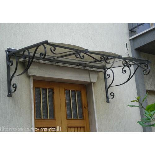 Pensilina tettoia acciaio inox ferro battuto for Cancelli in ferro leroy merlin