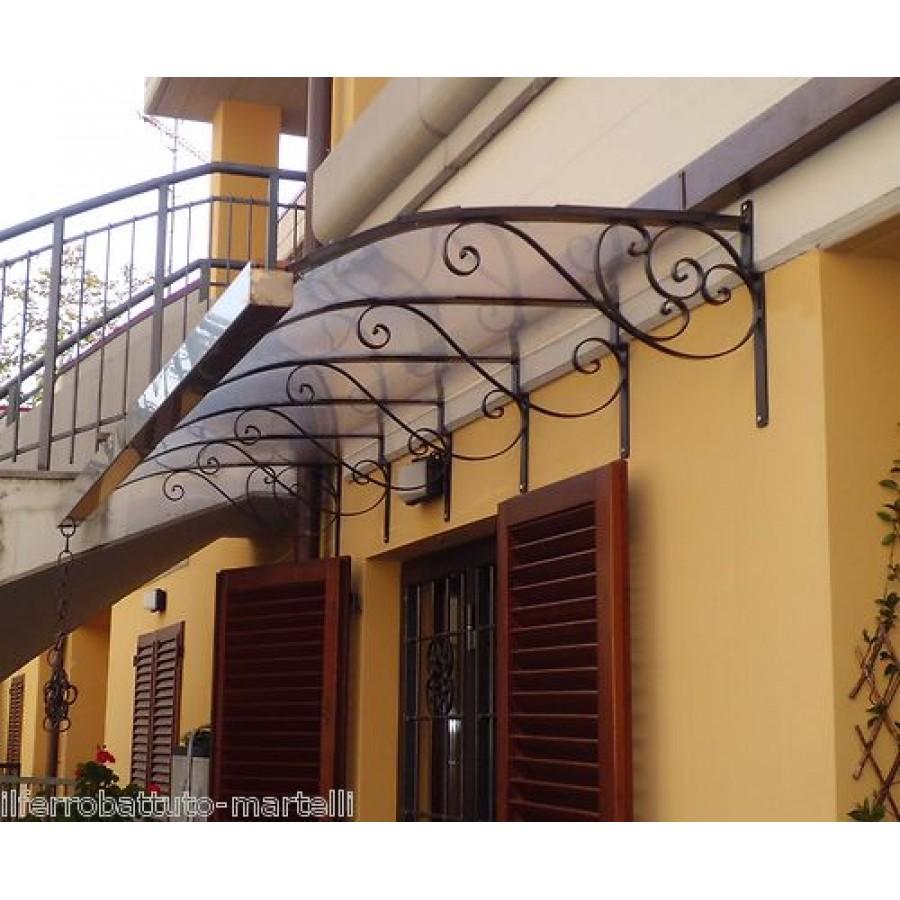 pensilina tettoia acciaio inox ferro battuto On pensiline in ferro prezzi
