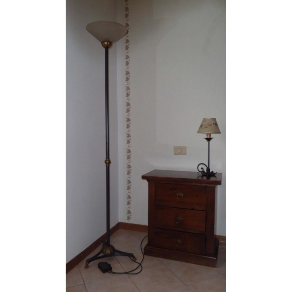 Wrought Iron Floor Lamp. Personalised Executions. 478