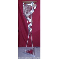 Wrought Iron Floor Lamp. Size approx. 50 x 180  cm . 484