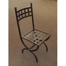 Chair Wrought Iron. Size approx. cm 41 x 41 x h 91 . 445