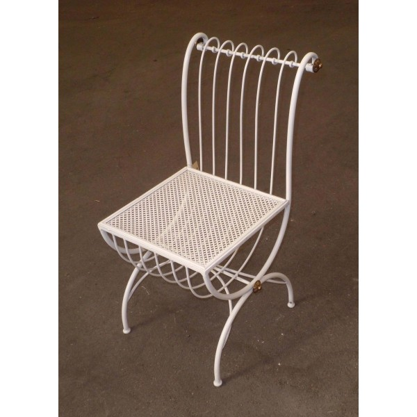 Chair Wrought Iron. Size approx. 40 x 40 x 85 cm . 449