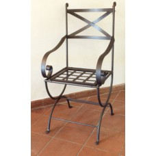 Chair Wrought Iron. Size approx. 45 x 45 x 113 cm . 465