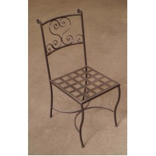 Chair Wrought Iron. Size approx. 45 x 45 x 95 cm . 470