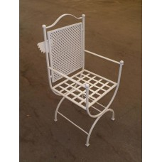 Chair Wrought Iron. Size approx. 45 x 45 x 110 cm . 472