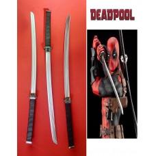 Deadpool's Sword Katana in Steel. Collectible sword. Handcrafted reproduction. Art. 1802