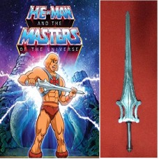 He-Man's Sword of Power in Steel. Collectible sword. Handcrafted reproduction. Art. 1805