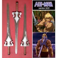 He-Man's Sword of Power in Steel. Collectible sword. Handcrafted reproduction. Art. 1806
