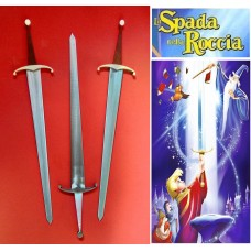 Sword in the Stone of King Arthur in Steel. Collectible sword. Handcrafted reproduction. Art. 1804
